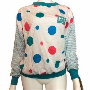 Vintage NWT Gitano Nites Dead Stock Dot Shirt 1990